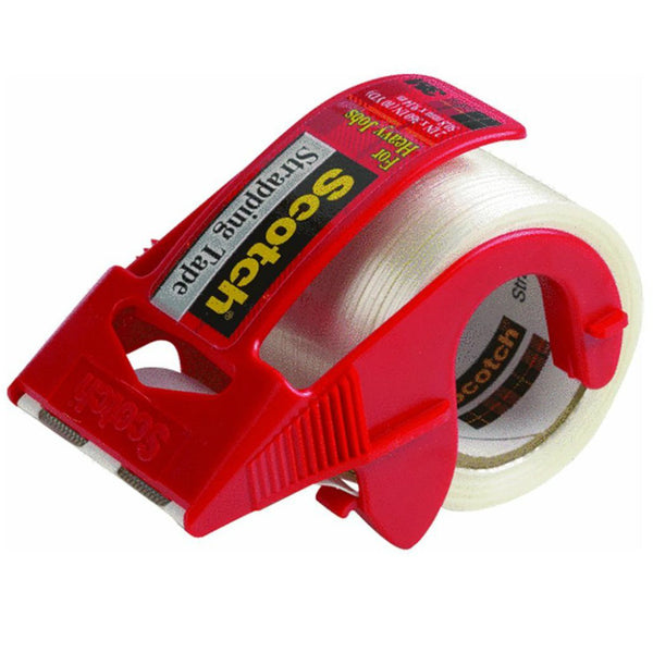 "Scotch 350 Heavy-Duty Strapping Tape with Dispenser, 1.88"" x 360"""