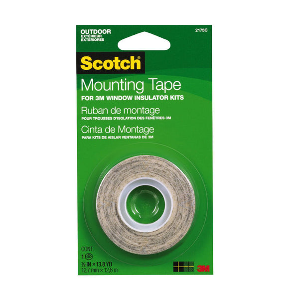 "Scotch 2175 Outdoor Window Film Mounting Tape, 1/2"" x 500"""