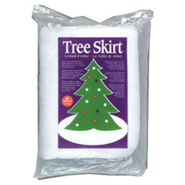 Buffalo Batt CK2918 Premium Christmas Tree Skirt, White, 48 inch