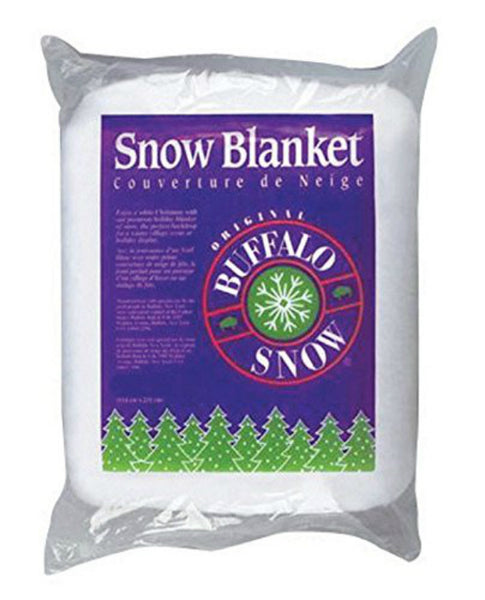 "Buffalo Batt CK2916 Buffalo Snow Blanket for Christmas Decor, White, 45"" x 99"""