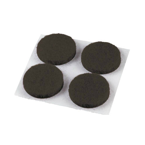 "Shepherd Hardware 9958 Self Adhesive Round Felt Pads, 1/2"", Brown, 24-Pack"