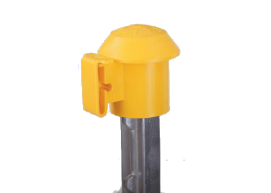 Dare 2027 T-Post TOP'R® Safety Top & Electric Fence Insulator, Yellow, 10-Pack