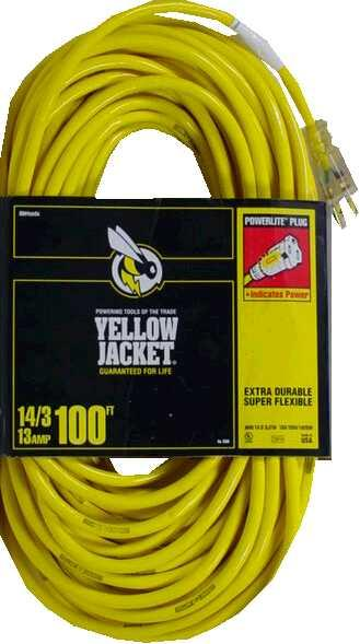 Yellow Jacket® 2888 Extension Cord, 15 Amp, 100'