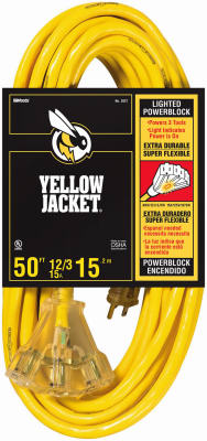 Yellow Jacket® 2827 Extension Cord, 15 Amp, 50'