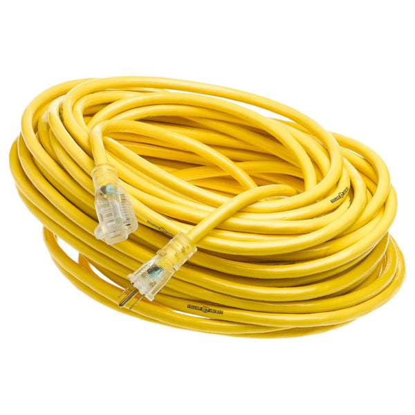 Yellow Jacket 2885 Extension Cord w/Power Light Indicator Plug, 15A, 12 Ga, 100'