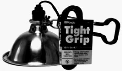 Woods® 2839 Tight Grip® Light Duty Clamp Lamp Worklight, 12' Cord