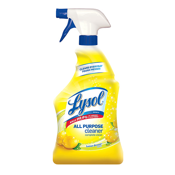 Lysol® 1920075352 Disinfectant All-Purpose Cleaner Spray, Lemon Breeze, 32 Oz