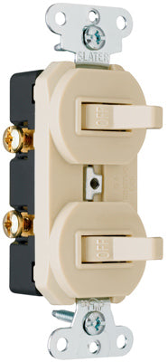 Pass & Seymour 690IGCCC5 Combination Switches, 15A, Ivory