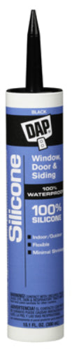 Dap® 08642 Window & Door 100% Silicone Rubber Sealant, 9.8 Oz, Black