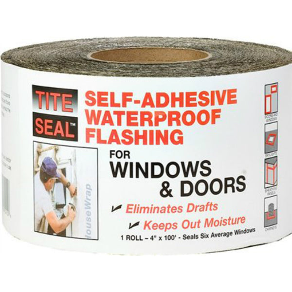 "Tite-Seal® TS4100 Self-Adhesive Waterproof Window & Door Flashing, 4"" x 100'"