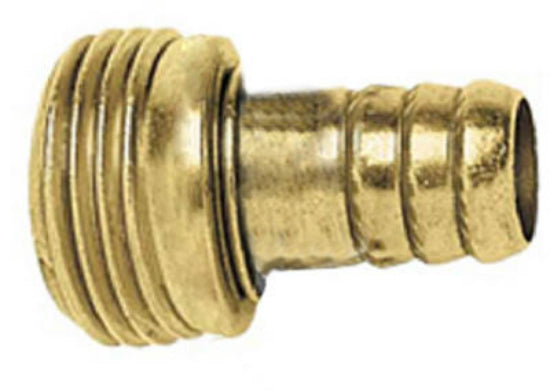 "Green Thumb B34MGT Male Stem Hose Repair, 3/4"", Brass"