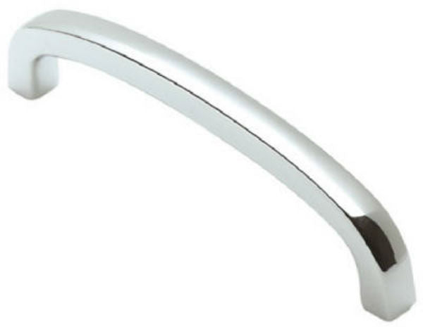 """Brainerd® 69175 Square Bow Cabinet Pull, 4"""", Polished ..."""