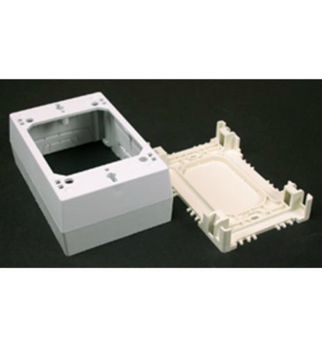 Wiremold® NM2 Nonmetallic Single Gang Raceway Switch/Outlet Box, Plastic, Ivory