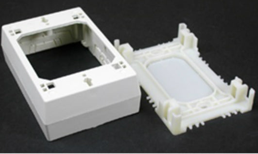 Wiremold® NM3 Raceway Deep Switch/Outlet Box, Plastic, Ivory