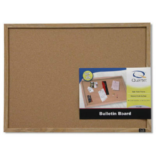 "Quartet 35-380342 Wood Frame Cork Bulletin Board, 17"" x 23"""
