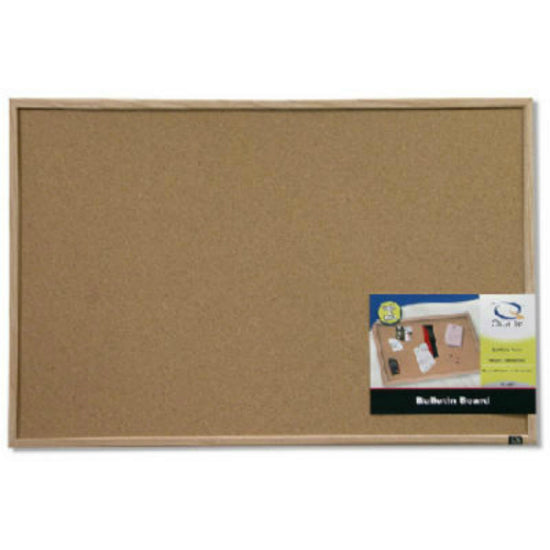 "Quartet 35-380352 Basics Cork Bulletin Board with Oak Frame, 23"" x 35"""