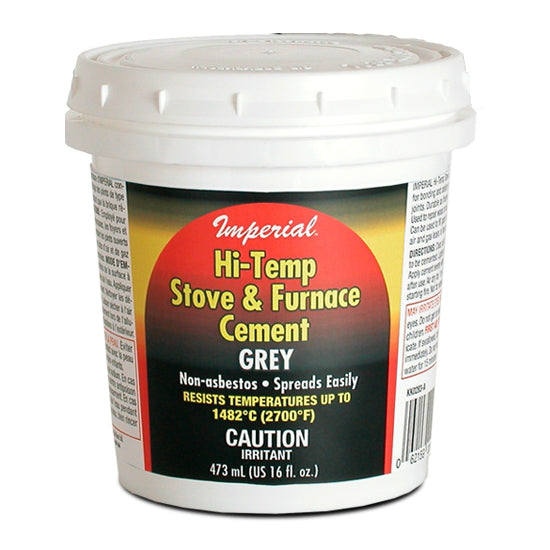 Imperial KK0283-A Hi-Temp Stove & Furnace Cement, 16 Oz, Gray