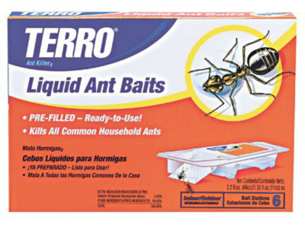 Terro T300 Ant Killer II Liquid Ant Bait with Borax, Ready To Use, 6-Pack