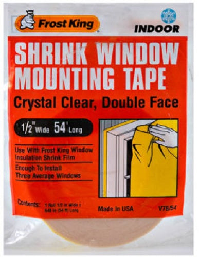 "Frost King V78/54H Shrink Window & Door Mounting Tape, 1/2"" x 54'"