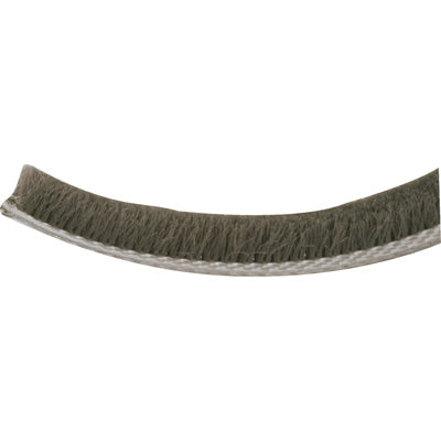 "Slide-Co T-8659 Pile Weather-Strip, 1/4"" x 18', Gray"