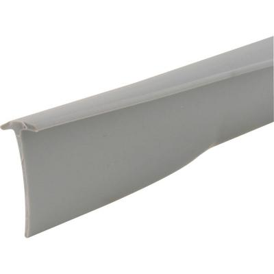 "Slide-Co T-8680 Vinyl T-Shape Storm Door Bottom Sweep, 1/2"" x 37"", Gray"