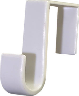 Hillman Fasteners 122324 Over-The-Door Single Hook, White