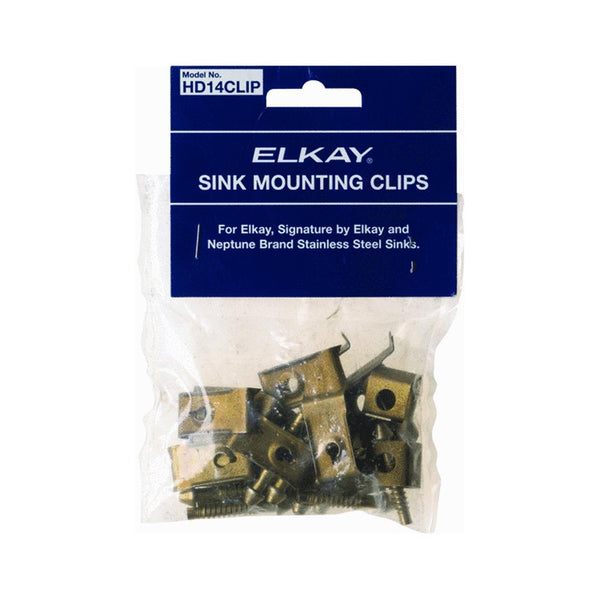 Elkay® HD14CLIP Sink Mounting Clips for Stainless Steel Sinks, 14-Piece