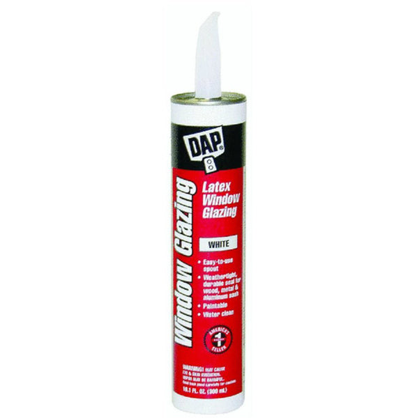 Dap® 12108 Latex Glazing Compound, 10.5 Oz, White