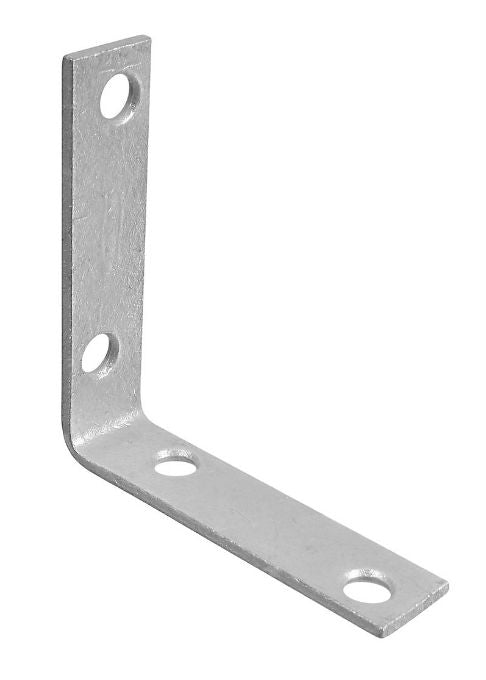 "National Hardware® N208-751 Corner Brace, 2.5"" x 5/8"", Galvanized, 4-Pack"