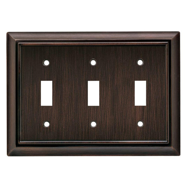 Brainerd® 64235 Architectural Triple Switch Wall Plate, Venetian Bronze