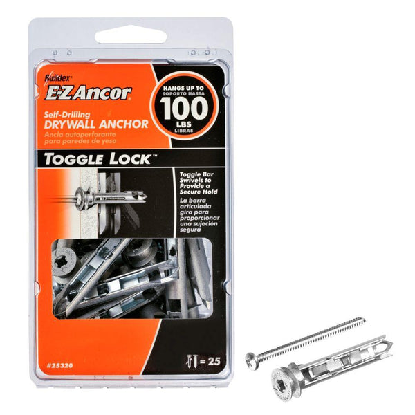 E Z Ancor 174 25320 Toggle Lock Self Drilling Drywall