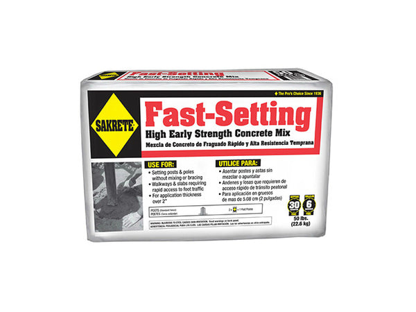 Sakrete® 65305535 Fast Setting Concrete Mix, 50 Lb