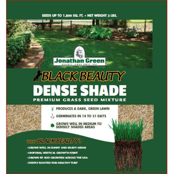 Jonathan Green 10600 Black Beauty Dense Shade Grass Seed Mixture, 3 Lb