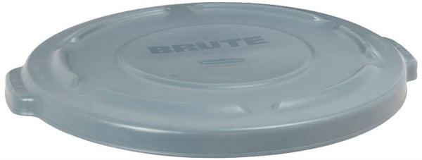 Rubbermaid® Commercial 2619-60-GRAY Brute® Round Trash Can Lid, Gray, 20 Gallon