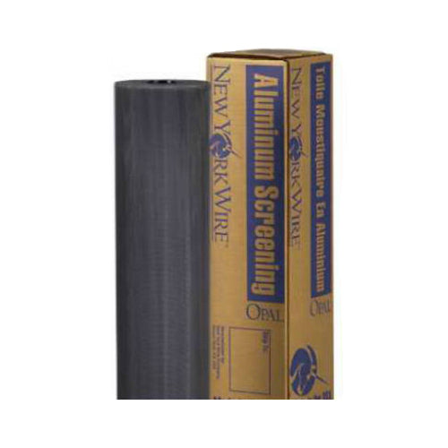 "New York Wire FCS9439-M Aluminum Screen Cloth, 48"" x 100', Charcoal"
