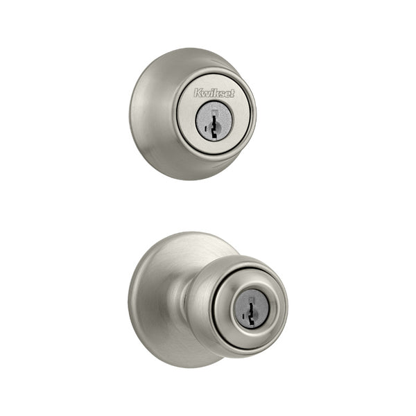 Kwikset® 690P-15-CP-K6 Polo Single Cylinder Combo Pack Lockset, Satin Nickel