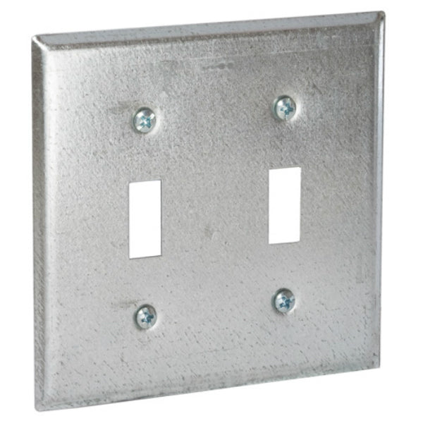"RACO® 871 Double Toggle Wallplate Cover, 4"", 1/4"" Raised from Surface"