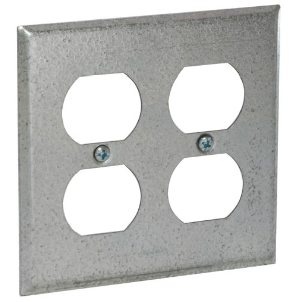 "RACO® 873 Double Duplex Receptacle Wallplate Cover, 4"", 1/4"" Raised from Surface"