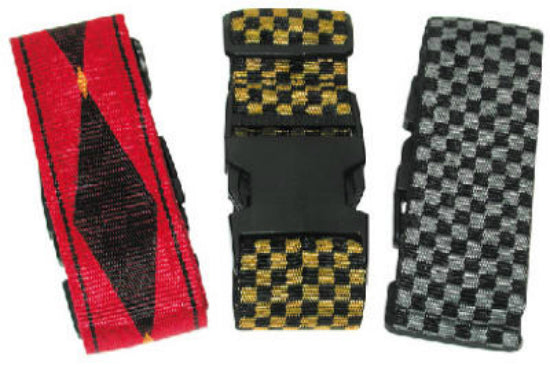 "Travel Smart TS222LSA Heavy-Duty Luggage Strap, 2"" x 72"", Assorted Designs"