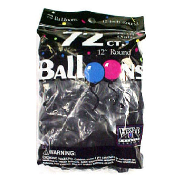 Creative Balloons® 127201 Helium Decorator Balloons, Black, 72-Count