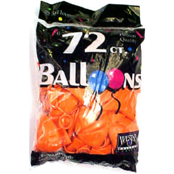 Creative Balloons® 127209 Helium Decorator Latex Balloon, Sunburst Orange, 72-Count