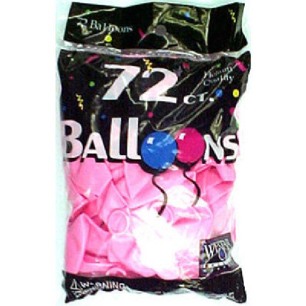 Creative Balloons® 127210 Helium Decorator Balloons, Hot Pink, 72-Count