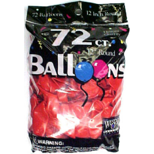 Creative Balloons® 127212 Helium Decorator Balloons, Brite Red, 72-Count