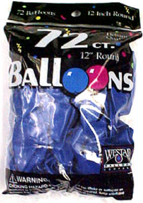 Creative Balloons 127203 Helium Latex Decorator Balloons, Royal Blue, 72-Count
