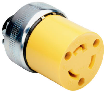 Pass & Seymour Armored Locking Connector, 20A, 125V, Yellow