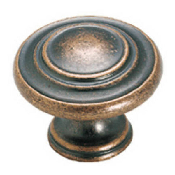 "Amerock BP1586WC Inspirations 3-Ring Knob, 1-3/8"", Weathered Copper"