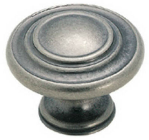 "Amerock BP1586WN Inspirations 3-Ring Knob, 1-3/8"", Weathered Nickel"