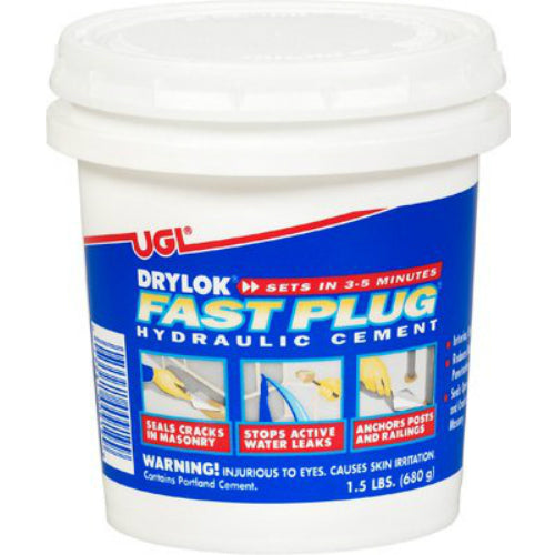 Drylok® 00919 Interior/Exterior Fast Setting Hydraulic Cement, 1.5 Lbs
