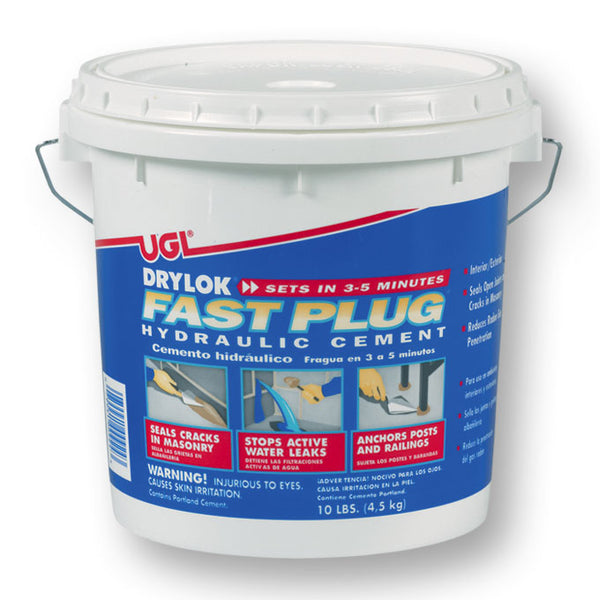 Drylok® 00924 Interior/Exterior Fast Setting Hydraulic Cement, 10 Lbs