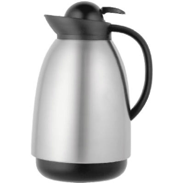 Thermos® 710STRI4 Push-Button Vacuum Carafe, 34 Oz, Stainless Steel